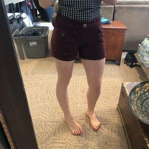 American Eagle Outfitters Shorts - AE maroon midi shorts